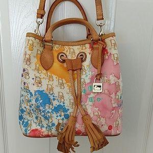 Dooney & Bourke Splash Print Drawstring Bag